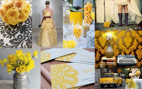 inspiration board yellow