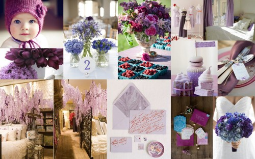 inspiration board purple