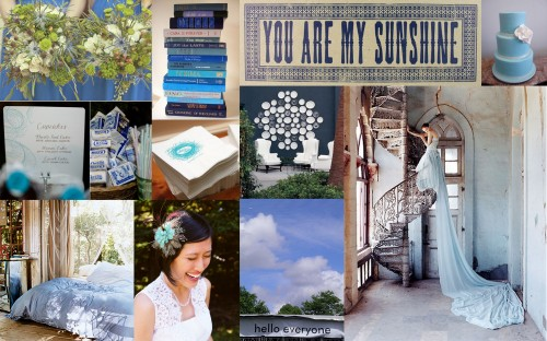 inspiration board blue